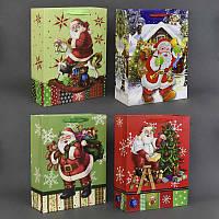 """Подарочный пакет 01483 """"Дед Мороз"""" (360) 5 видов, 30*42*12см"""