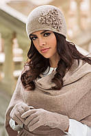 Laura зимняя женская шапка Kamea, шерстяная, темный беж цвет