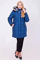 Зимняя удлиненная куртка  58