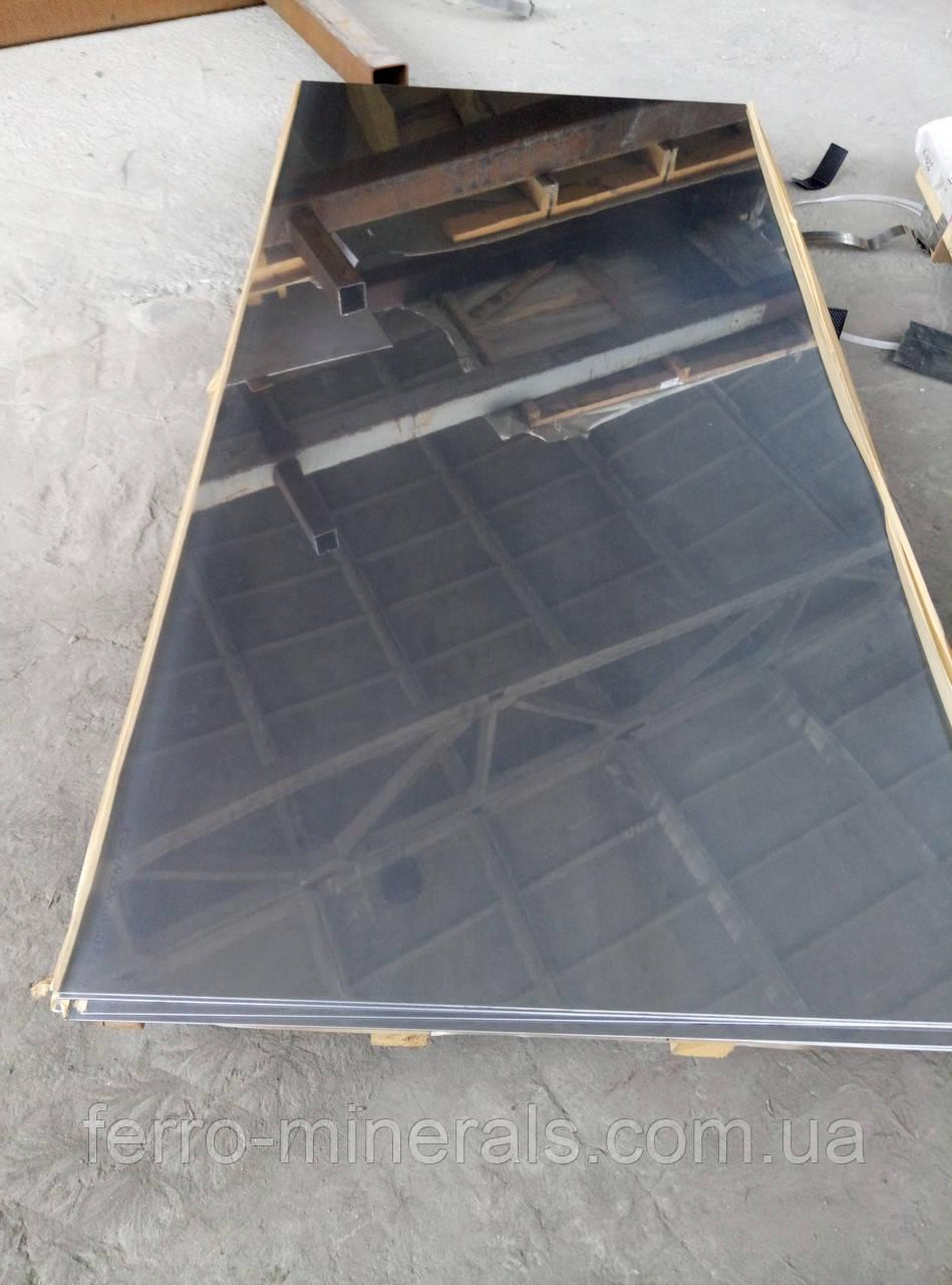 Лист Нержавеющий 2.5х1250х2500мм AISI 430 зеркало