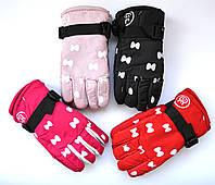 Детские болоневые перчатки для девочек  - длина 19 см