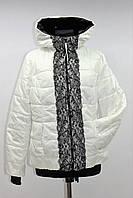 Куртка женская демисезонная с капюшоном, белая, р.42-48
