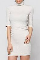Трикотажное платье гольф Philippe Matignon, цвет молочный р. L