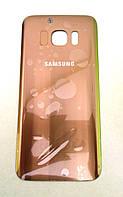 Заднее стекло для Samsung S7 G930 Gold Золото  крышка батарейного отсека задняя крышка gold золотая