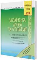 Українська мова та література Власні висловлення Авраменко О. ЗНО 2018