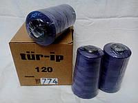 Нитки армированные TUR-IP №120 5000м акционный цвет св.фиолетовый 774