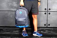Рюкзак Nike, серый с голубыми вставками