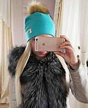 Женская шапка с мехом, фото 4