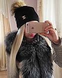 Женская шапка с мехом, фото 6