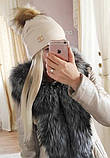 Женская шапка с мехом, фото 8