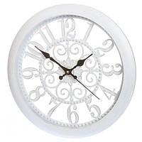 """Часы настенные """"Прованс2"""", белый, 35,5*5,5 см."""