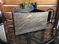 Ящик тара деревянный универсальный декоративный ( 50х40х30 см)от производителя (Коричневый с позолотой)