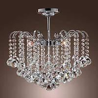 Пышная, хрустальная люстра, с пятью лампами 00232144