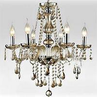 6-Свет стилю дворец стеклянная люстра со свечой лампы 02640804