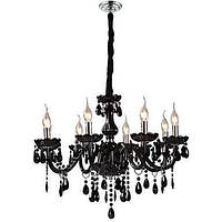 Черная хрустальная люстра с 8 лампочками 00221193