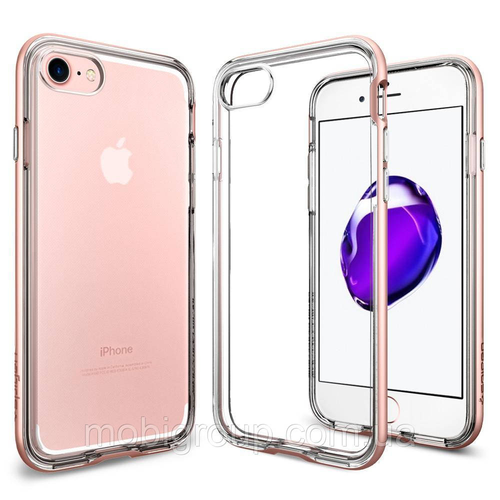 Чехол Spigen для iPhone 7 Neo Hybrid Crystal, Rose Gold, фото 1
