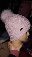 Красивая теплая шапка на зиму