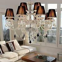 Элегантная, хрустальная люстра с двенадцатью лампами 00240337