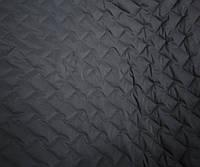 Плащевка стеганая на синтепоне маленький зиг-заг черная