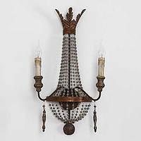 Творческой личности двойной головы традиционные старинные деревянные настенные лампы для внутреннего / отеля украшают стены света 05113009