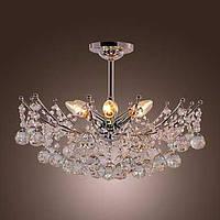 Пышная, хрустальная люстра с шестью лампами 00232147