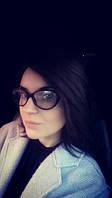 """Имиджевые очки """"кошачий глаз""""с прозрачными стеклами"""