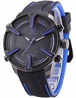 Мужские наручные led часы Shark Dogfish синие