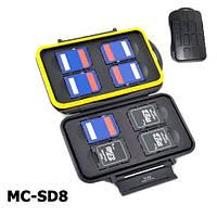 Водонепроницаемый защитный кейс для карт памяти JJC MC-SD8, фото 1