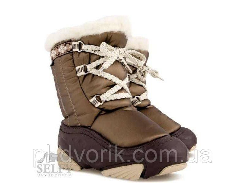 Зимние дутики Demar JOY a (коричневые) 4019a В зимней обуви Demar используется натуральная овечья шерсть, благ