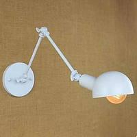 Белый двойной праздник настенный светильник из кованого железа длинная рука 05437313