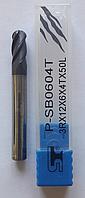 Фреза концевая сферическая  R3 мм P-SB0604T <55 HRC