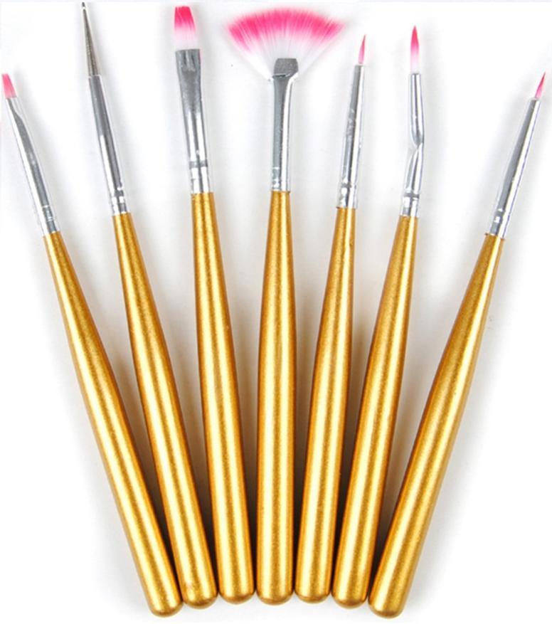 Набор кистей для дизайна и рисования на ногтях, 7 шт/упак