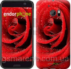 "Чехол на HTC 10 Красная роза ""529c-464-7794"""