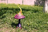Гриб садовый декор. Мухомор веселый зигзаг 63см.