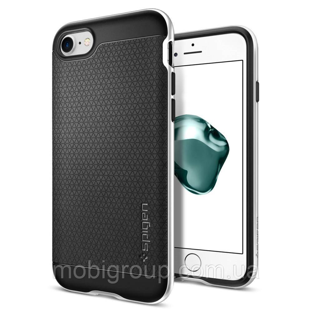 Чехол Spigen для iPhone 7 Neo Hybrid, Satin Silver