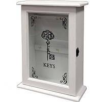 Белая ключница с дверцей