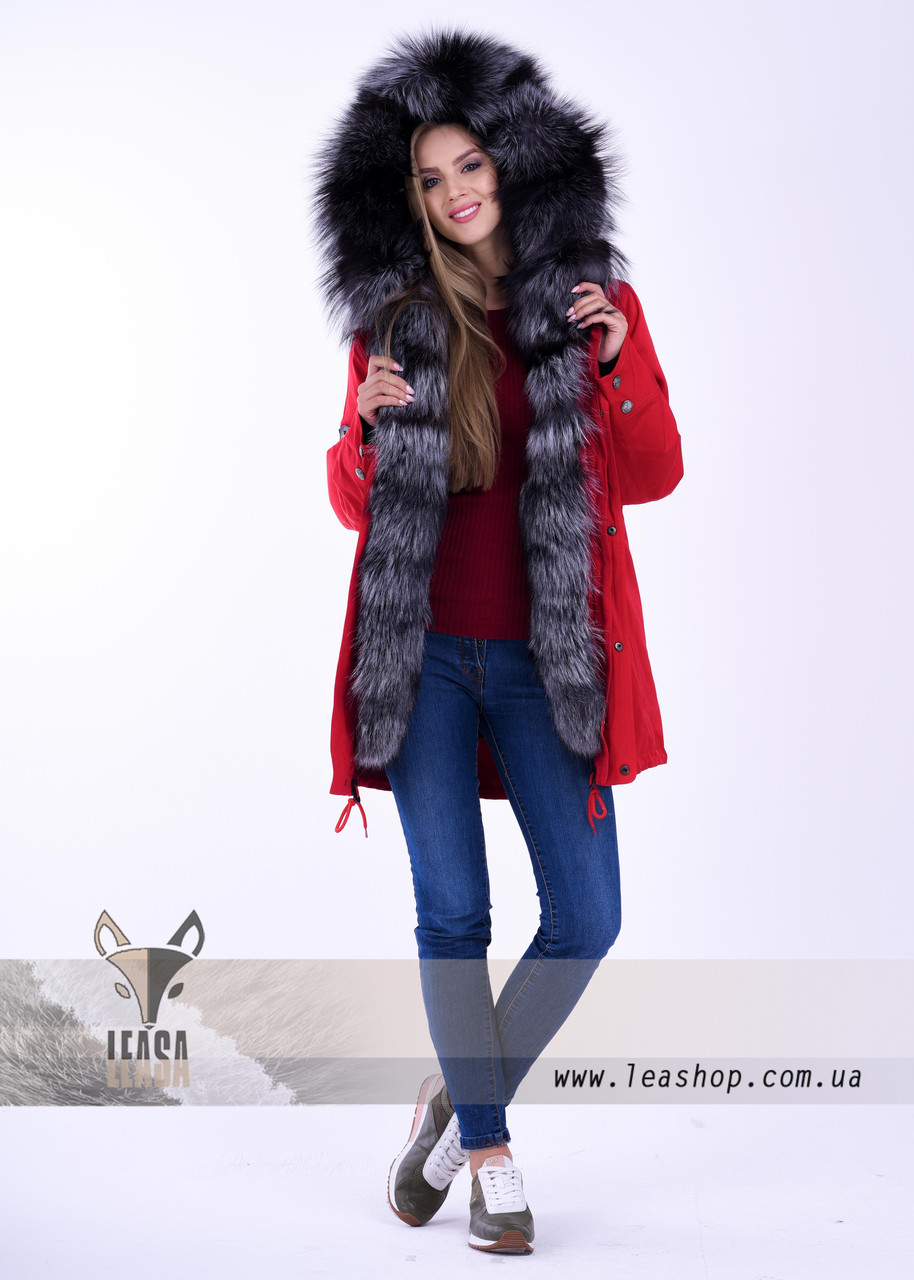 dedbcb8c6 Женская парка с финской чернобуркой - Женские шубы и меховые жилетки от  Украинского производителя | LEAshop