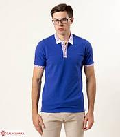 6aba0b51560 Спортивный мужской свитшот украшен геометрической вышивкой. Современная  футболка вышиванка мужская с коротким рукавом