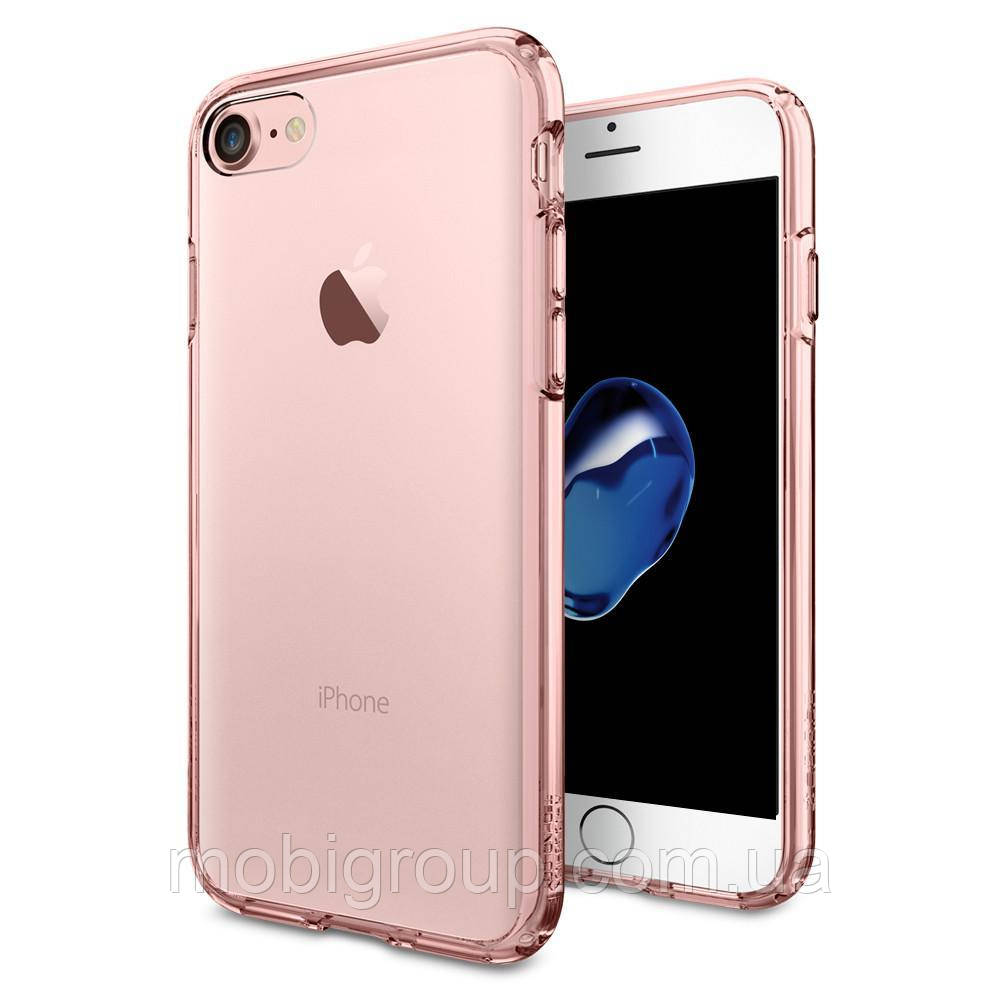 Чехол Spigen для iPhone 7 Ultra Hybrid, Rose Crystal, фото 1