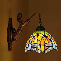 E27 220v 3-5㎡ Европейский контракт сельский творческий кованого железа светильник стены стекла светодиодные фонари 04597806