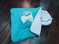 Кокон +ортопедическая подушка +конверт- плед на выписку