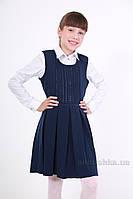 Сарафан трикотажный для девочки ОТМ Дизайн 7482 синий 134-140
