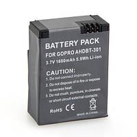 Аккумулятор AHDBT-301 (AHDBT-302, 201) для GoPro Hero 3 - аналог 1600 ma