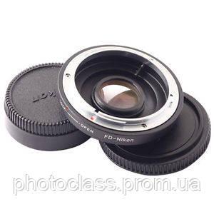 Адаптер (переходник) Canon FD - Nikon (FD-AI) с корректирующей линзой