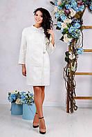Красивое женское демисезонное пальто В-1034 Colibri Anqora , фото 1