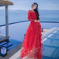 Подписать новый цветок фея юбка перспективных представлений приморский свет юбка свадебное платье 05646457