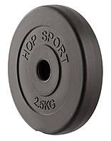Блин, диск для штанги или гантелей 2,5 кг битумный