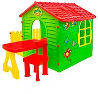 Домик детский Garden House с террасой + столик