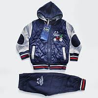Детский утепленный спортивный костюм тройка для девочки (1-3лет) 8e26cac6c24fe