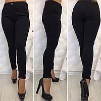 Женские стильные черные джинсы Турция